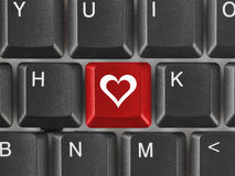 Computer keyboard with love key Royalty Free Stock Image