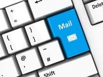 Computer keyboard mail Stock Image