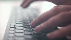 Computer Keyboard. The Camera Is In Motion - On Dolly stock footage