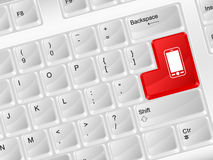 Computer keyboard mobile phone symbol Royalty Free Stock Images