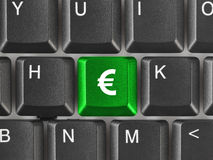 Computer keyboard with money key Royalty Free Stock Photos