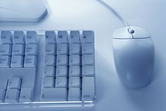 Computer keyboard and mouse. Royalty Free Stock Images