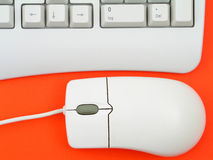 Computer keyboard and mouse Stock Photography
