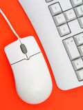 Computer keyboard and mouse Stock Images