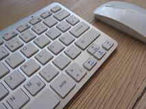 Computer keyboard and mouse Royalty Free Stock Photography