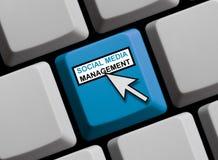 Computer Keyboard: Social Media Management. Computer Keyboard with Mouse arrow showing Social Media Management Royalty Free Stock Image