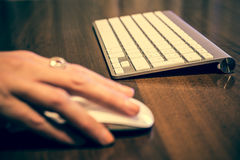 Computer Keyboard and Mouse Royalty Free Stock Photos