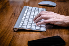 Computer Keyboard and Mouse Royalty Free Stock Image