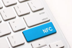 Computer keyboard with NFC technology Stock Photos