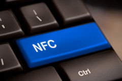 Computer keyboard with NFC technology Stock Image