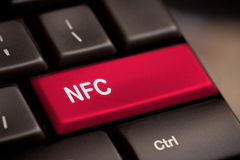 Computer keyboard with NFC technology Royalty Free Stock Photography