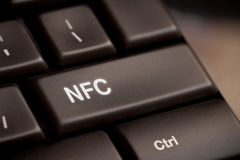 Computer keyboard with NFC technology Royalty Free Stock Images