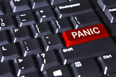 Computer keyboard with panic word Royalty Free Stock Images
