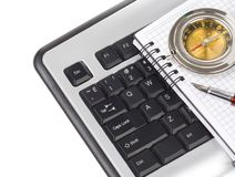 Computer keyboard and pen Royalty Free Stock Images