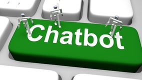 Computer keyboard with the print Chatbot on green button Stock Images