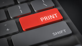 Computer keyboard print Stock Photo