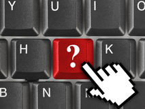 Computer keyboard with question key Royalty Free Stock Image