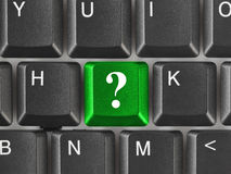 Computer keyboard with question key Stock Images