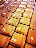 A computer keyboard. A qwerty keyboard Stock Photos
