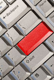 Computer keyboard with red  button Stock Images