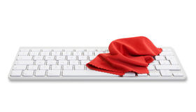 Computer keyboard with red cloth Stock Images