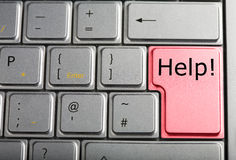 Computer keyboard with red help key Stock Photography