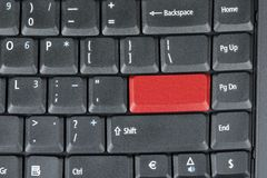 Computer keyboard with red key Royalty Free Stock Photography