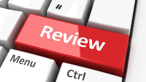 Computer keyboard review Royalty Free Stock Image