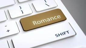 Computer keyboard romance Royalty Free Stock Image