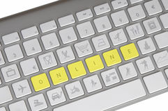 Computer keyboard with sales keys Royalty Free Stock Images