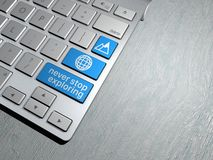 Computer keyboard, the search button. Internet travel Stock Images
