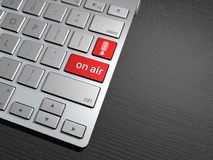A computer keyboard, the search button. search engine, go on the air, on air Stock Photography