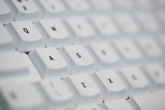 Computer keyboard selective focus Royalty Free Stock Image