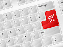 Computer keyboard shopping symbol Stock Photo