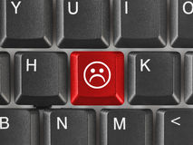 Computer keyboard with smile key Royalty Free Stock Images