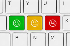 Computer keyboard with smile keys Royalty Free Stock Photo