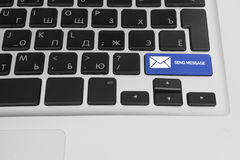 Computer keyboard with socail button Stock Photography
