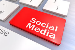 Computer keyboard with a Social Media Concept Royalty Free Stock Images