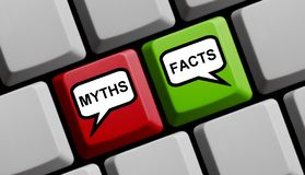 Myths and Facts - Computer Keyboard royalty free stock image