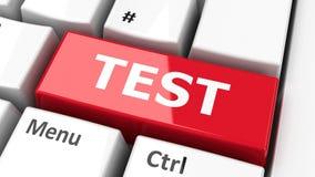 Computer keyboard test  2 Stock Photo