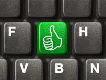 Computer keyboard with thumb key Royalty Free Stock Photography