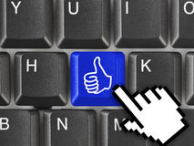 Computer keyboard with thumb key Royalty Free Stock Photo