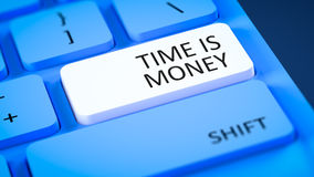 Computer keyboard time is money Stock Photography