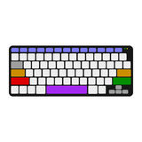 Computer keyboard. Top view. 3d Vector colorful illustration. Royalty Free Stock Images