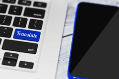 Online translating application concept Royalty Free Stock Photography