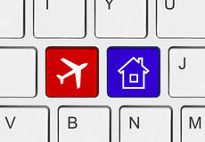 Computer keyboard with Travel key Stock Image