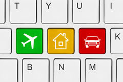 Computer keyboard with Travel key Royalty Free Stock Photography