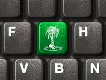 Computer keyboard with vacation key Stock Image