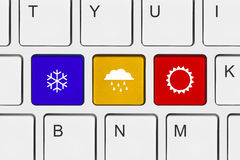 Computer keyboard with Weather key Stock Image