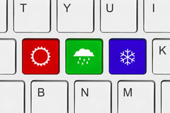 Computer keyboard with Weather key Royalty Free Stock Photography